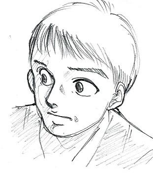 短髪の三白眼2