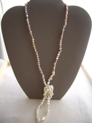 three way pearl necklace