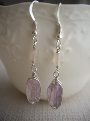 flourite wrap earrings