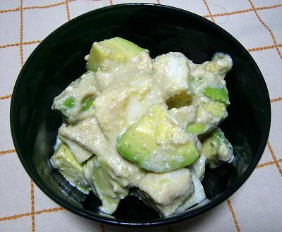 アボカドの長芋のサラダ