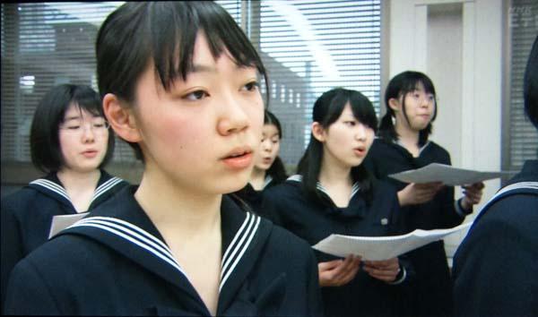 豊島岡女子学園高等学校 女子高生 セーラー服 昆布巻きネクタイ 合唱