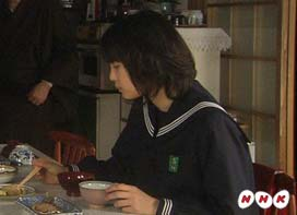 荒井萌セーラー服よっちゃんゲゲゲの女房朝食