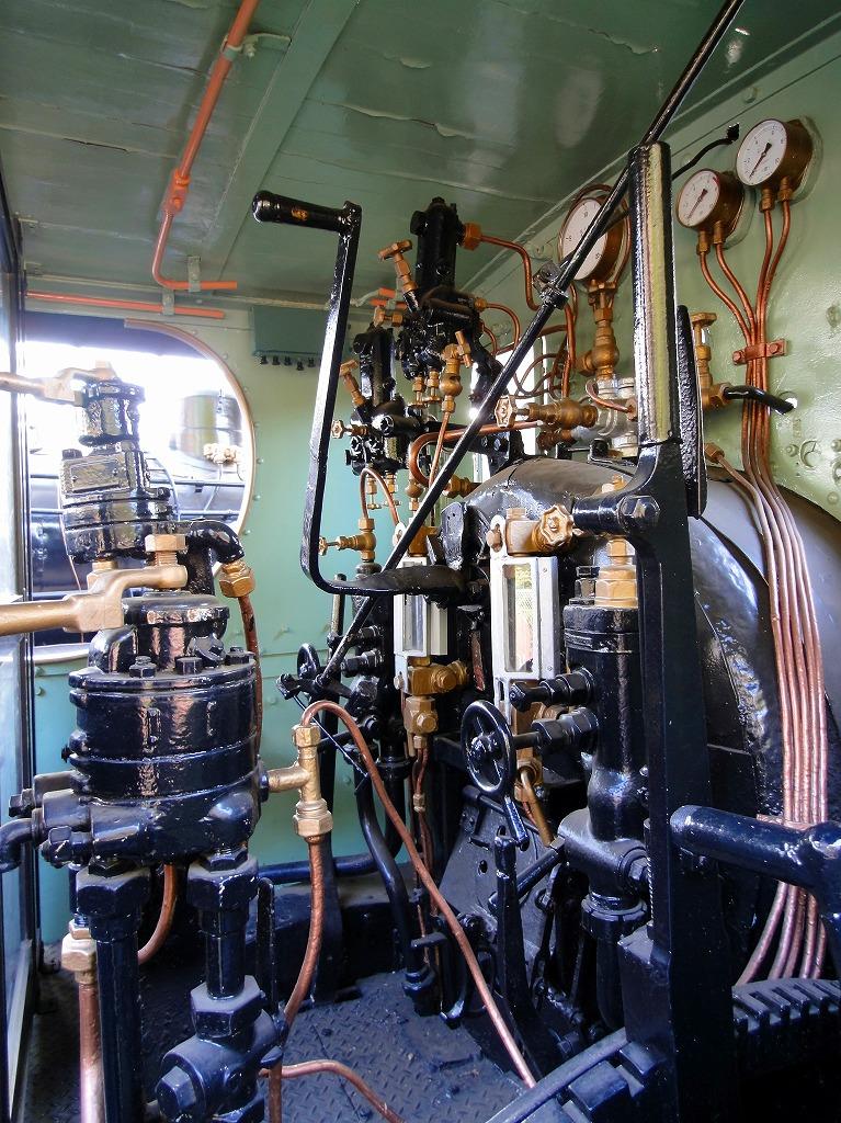 青梅蒸気運転室