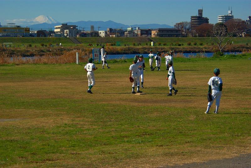 多摩川冬景色富士山03