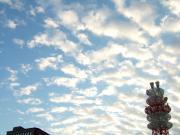 空一面に雲。