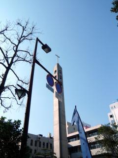 青空と教会。