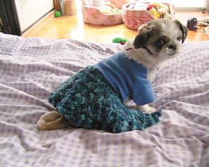 毛糸スカート