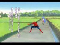 らき☆すたに出没する男スパイダーマン!!