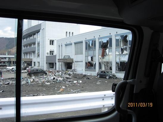 釜石警察署 2階まで津波が押し寄せている