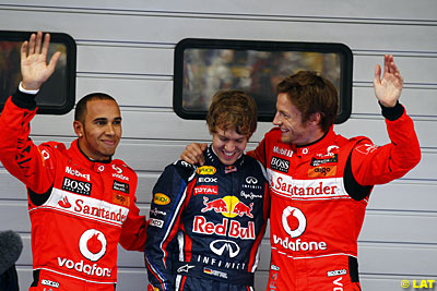 Lewis Hamilton, McLaren, Sebastian Vettel, Red Bull Racing, Jenson Button, McLaren, qualifying, Chinese GP, Shanghai International Circuit. Shanghai. Saturday 16 April 2011.