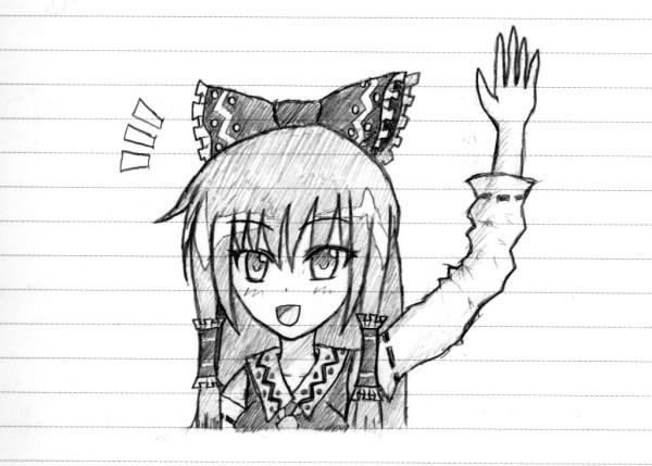 霊夢ちゃんが手を振ってるお( ^ω^)
