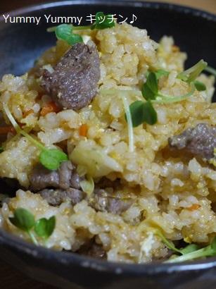 牛ばら肉とキャベツの焼き肉のたれ風味炒飯★