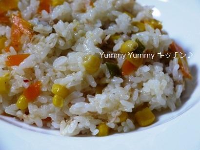 簡単☆お手軽!魚介スープdeツナと野菜の炊き込みピラフ☆