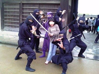 姫路城忍者さんと