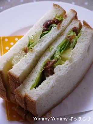 やきとりとパインのサンドイッチ♪