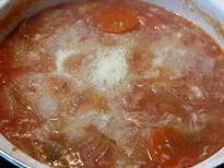 トマト雑炊チーズリゾット風調理2