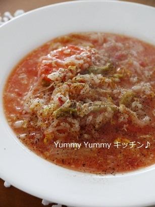 トマト雑炊チーズリゾット風♪