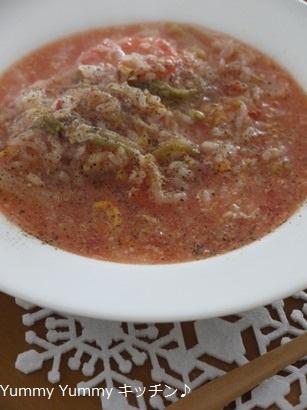 トマト雑炊チーズリゾット風☆
