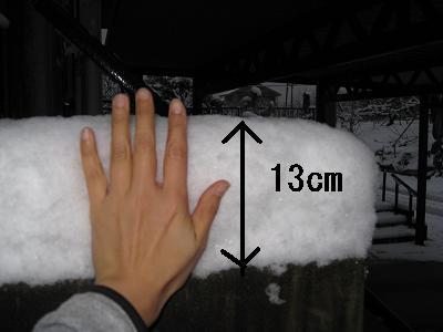 積雪13cm2.9