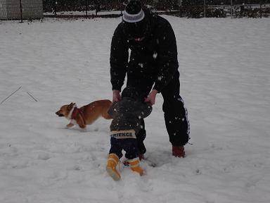 雪でアグレッシブ