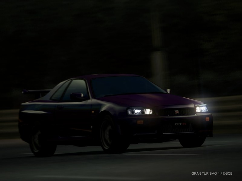 日産 スカイライン GT-R スペシャルカラー ミッドナイトパープルII(R34) '99