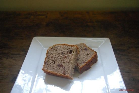米粉と小豆のケーキ