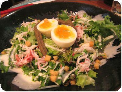 濃厚蟹味噌卵のシーザーサラダ