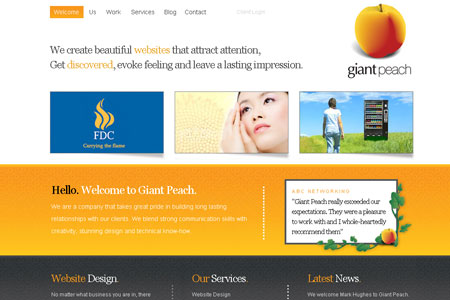 giant peach // website design salisbury