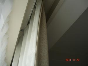 川島織物セルコン 脱着可能裏地FT1819 窓側から