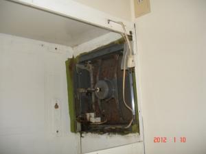 既存の金属換気扇
