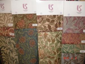 川島織物セルコンfilo(フィーロ)MORRIS Design Studio(ウィリアム・モリス)ハニーサークル&チューリップ、ハニーサークル、ブラックソーン、ウィローボウ