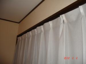 既存のレールカーテン取付