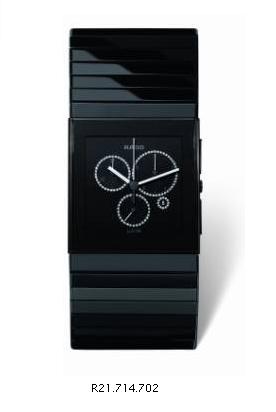 ラドーの黒い腕時計