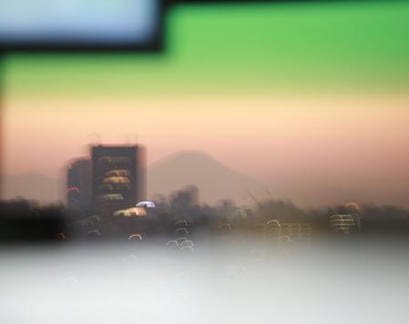 東京から冨士遠景