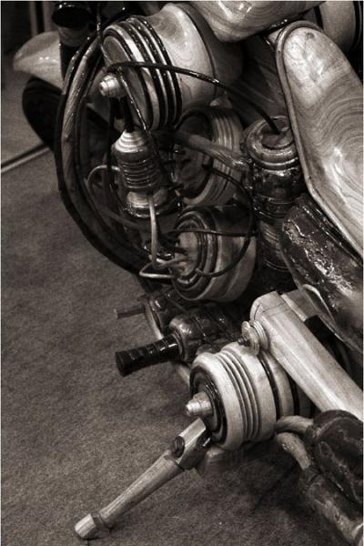 エコバイクのハンドル部のアップ