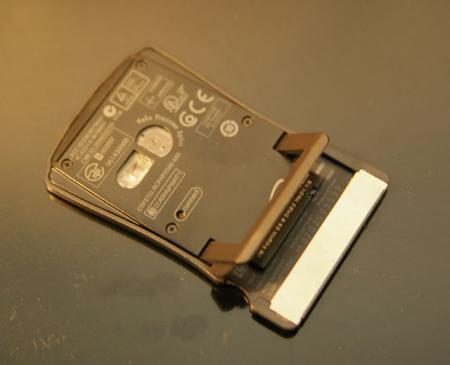 HP社のICカード型マウスのうら面