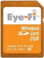オレンジ色の無線ラン対応SDカード