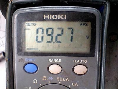 ペルチェ素子への供給電圧テスタ