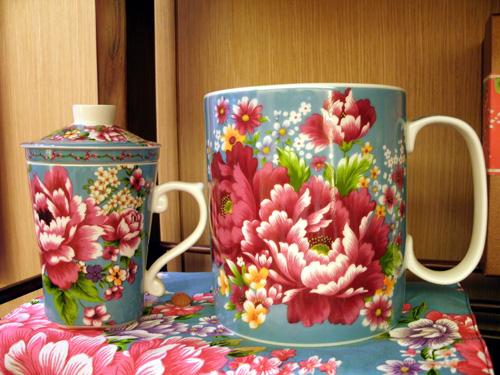 客家花布(台湾花布)柄マグカップ