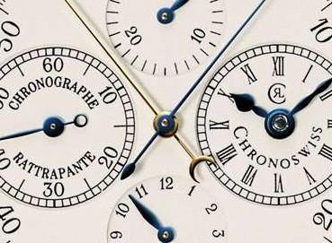 クロノスイス クロノグラフ ラトラパンテ文字盤